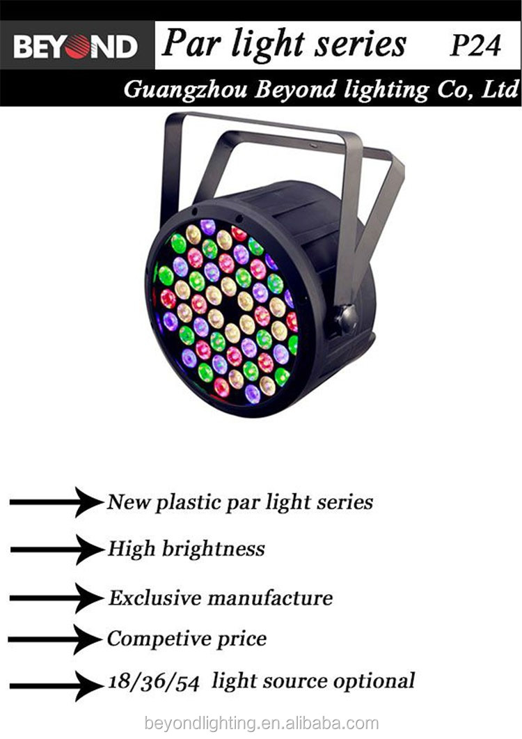 high brightness mini cheap 36 * 3 watt plastic led flat par can series for bar