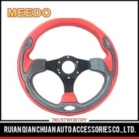 Carbon wood standard component steering wheels for Patrol ATV UTV Kart Bumper Scooter Sightseeing car in park airpot hotel Fair