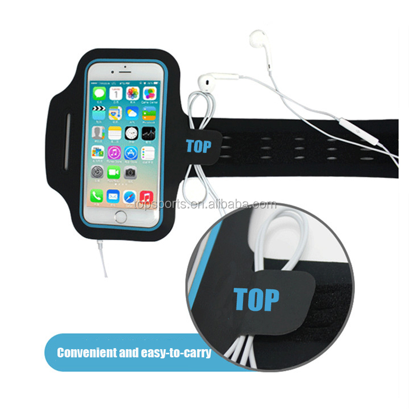 Waterproof led flashing mobile phone sports armband for running