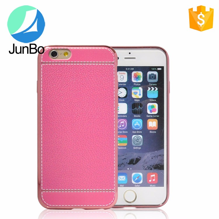 Promotion product mobile phone accessory for iphone 6 leather pc case hard back cover