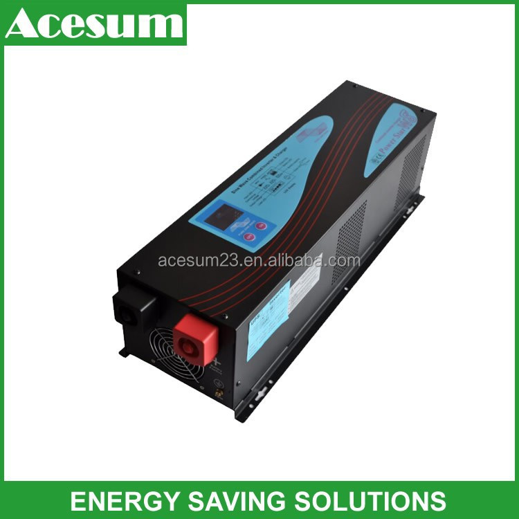 Acesum 3000w dc to ac PSW power inverter with battery charger