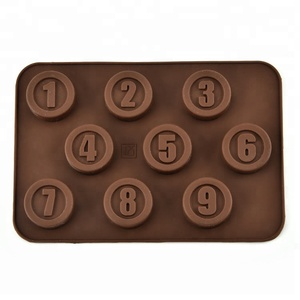 1-9 Numbers Silicone Mold For Cake Decorating Tools