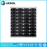 High efficiency mono 9 volt 50 watt photovoltaic solar panel with TUV certificate for on and off grid system