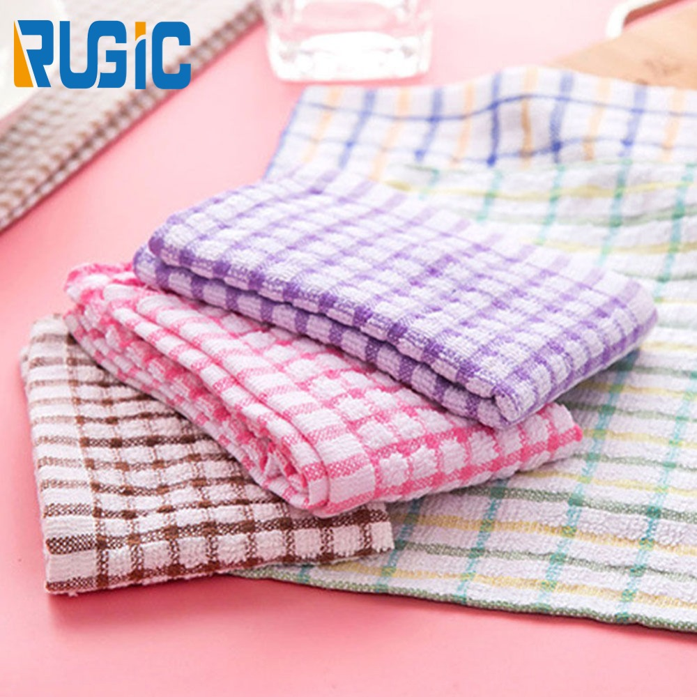 Home Hanging Cotton Kitchen Towels Dish Cloth 24x24cm Absorbent Cleaning Wiping Rags Towel