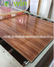 Cabinet doors materials uv coated wood grain High gloss laminated mdf panels