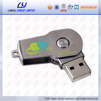 swivel metal usb memory print logo flash disk wholesale bulk flash drive 256gb