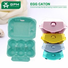 Eco friendly bioddergradable 6 cells cardboard egg carton box for sale
