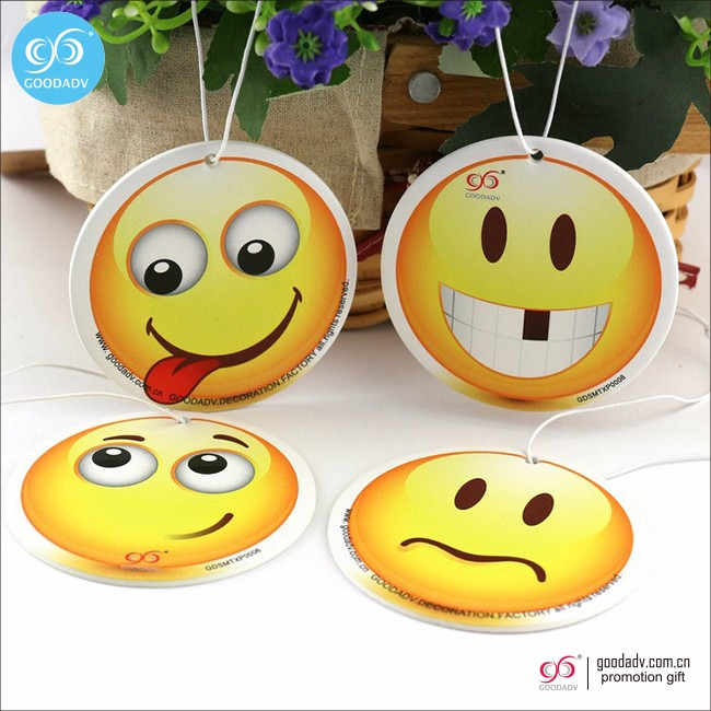 New product 2016 free custom car air fresheners wholesale for perfume hanging
