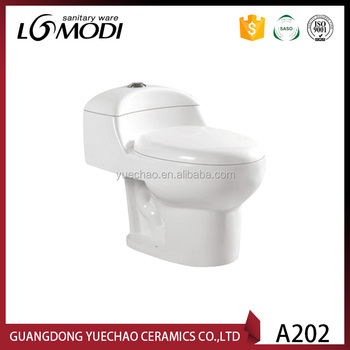S-trap srainage pattern and round toilet bowl shape high quality sanitaryware water closet toilet A202