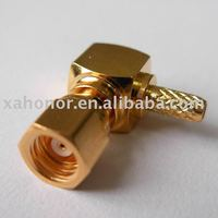 electrical SMC female right angle for rg316 crimp cable connector