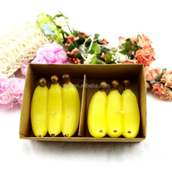 Like real fruit candle, apple, pear,peach,banana,Colorful fruit shaped candles