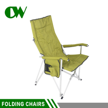 Chinese factory india garden rest adjustable pocket metal arm leisure aluminium outdoor camping used folding chairs
