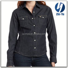 top quality fashionable women's jeans shirt