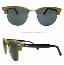 Italy Top Fashion Ray brand Classic Wooden Acetate Sunglasses Frame