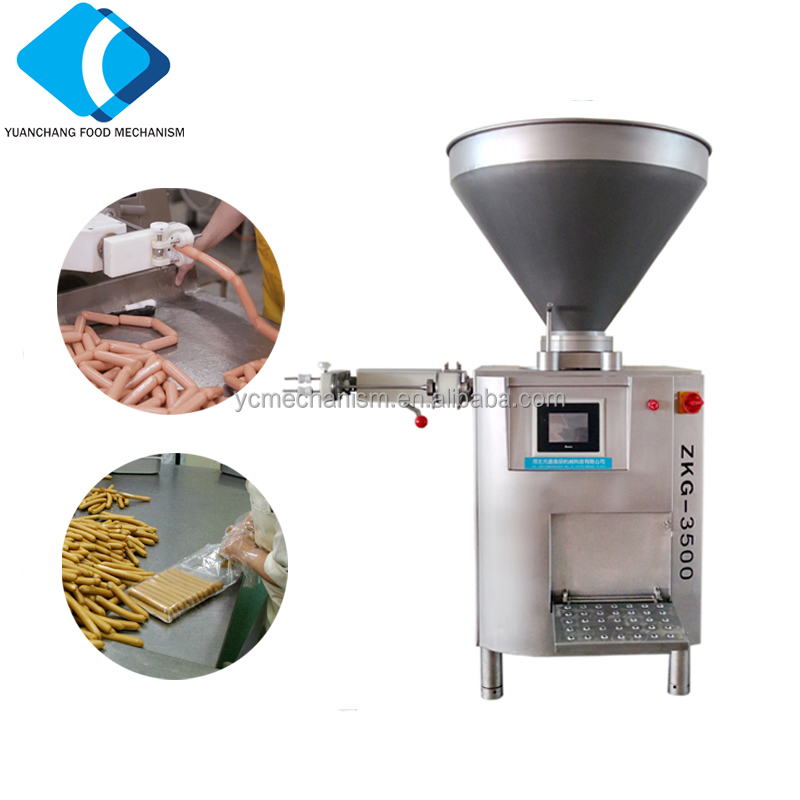 ZKG-3500 Automatic Vacuum Sausage Stuffer Machine For Sausage Filler