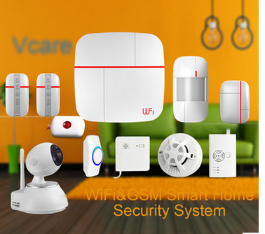 wifi+gsm+pstn security alarm with wifi camera,double net wifi alarm