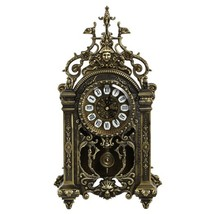Royal Design Brass Antique Table Clock with Church Style JHF14-1799