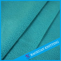 Plain dyed one sides antipilling brushed micro polar fleece fabric