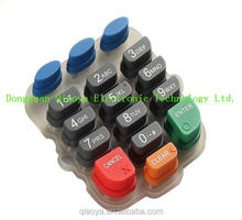 made in china pos high quality silicone rubber keypad with conductive carbon pill for POS machine