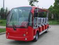 11 seats cheap electric shuttle bus sightseeing bus city bus resort car for park