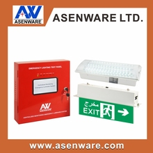 UAE Central Fire Security LED Emergency Light Test System