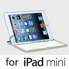 Mobile Bluetooth Keyboard for iPad Mini,Aluminum Keyboard Cover for iPad Mini