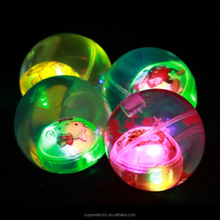 Newly design high quality eco-friendly kids gifts glitter ball wholesale cheap led bouncy ball