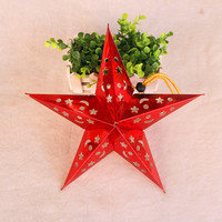 Hollow design Christmas hanging star with cheap price