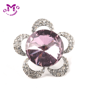 Fashion zinc alloy silver pink Women Jewel finger ring engagement ring