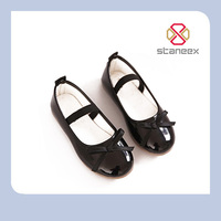 Hot Selling PU Leather Kids Flat Ballet Shoes Retail/Wholesale Sweet Princess Gilr Child Shoe