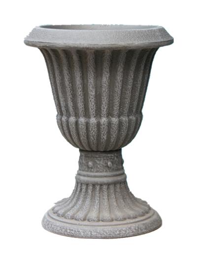Garden slate composite lighted outdoor cheap plastic for Fancy flower pots