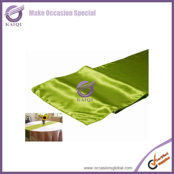 #20821 moss cheap wholesale fabric shiny satin party decoratioin party decorative cheap table linens runner