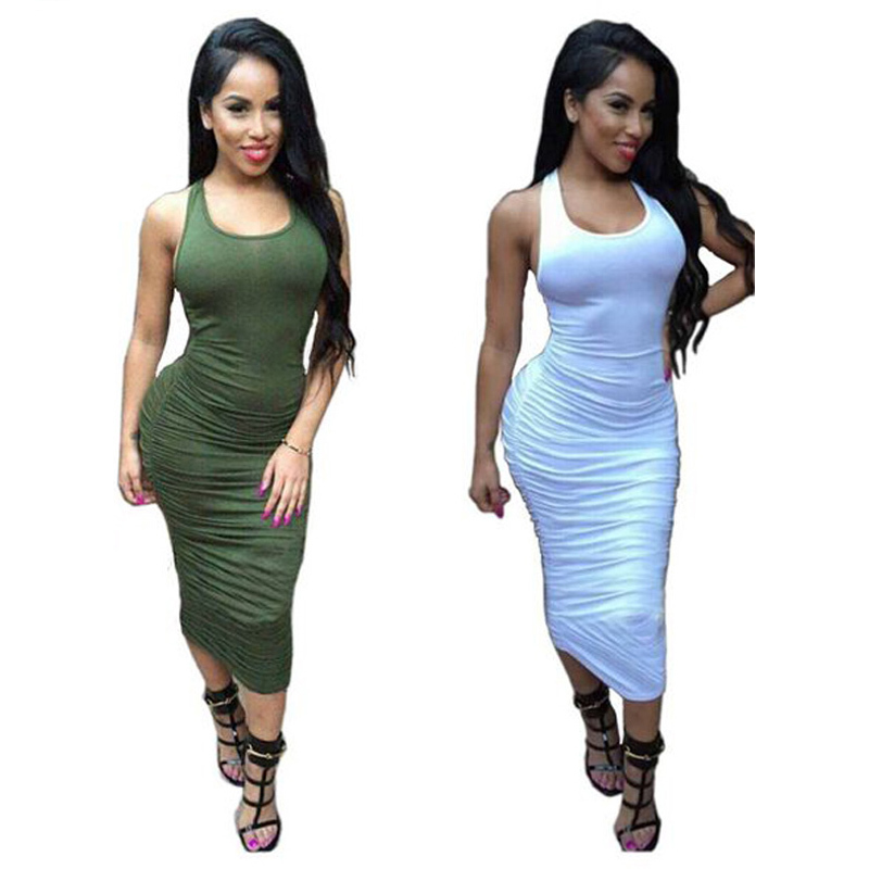 Buy 2015 Summer Dress White Black Women Bandage Dress Pleated Top