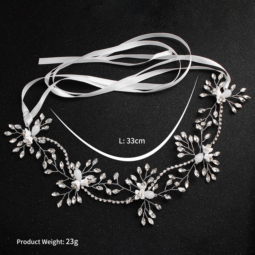 HX001 yiwu huilin customized Direct new bride hair band handmade crystal hair band hair band studio photo headdress