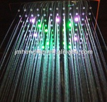 "12"" Rainfall Square Bathroom Shower Head LED Flash Light 7color changing"