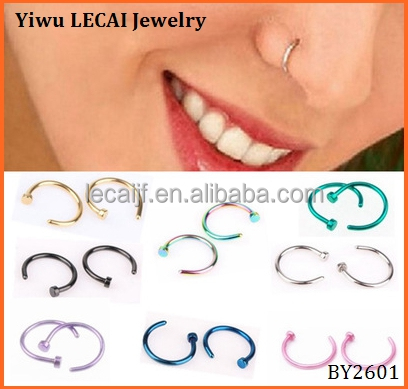 Hot sell 316L stainless steel indian nose ring for body jewelry with factory price