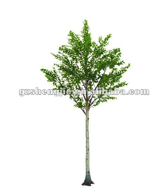 man made Artificial green white Betula BIRCH tree green leaves Artificial BIRCH indoor outdoor used trees