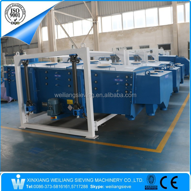 Weiliang FYBS type petroleum/pet/green coke linear gyratory vibrating screen sieve machine