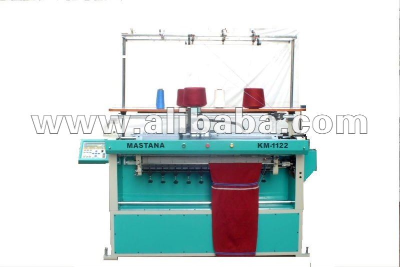 Semi Computerised Flat Bed Knitting Machine