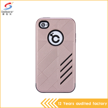 New arrival protective multiclolr tpu pc mobile phone case for iphone 4s