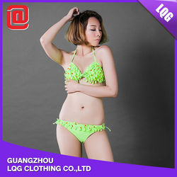 Hot sale 2015 green beaded new japanese swimwear