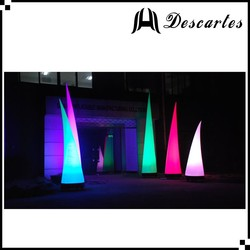 Outdoor event decorative lighted pillars and ivory/inflatable LED towers for sale
