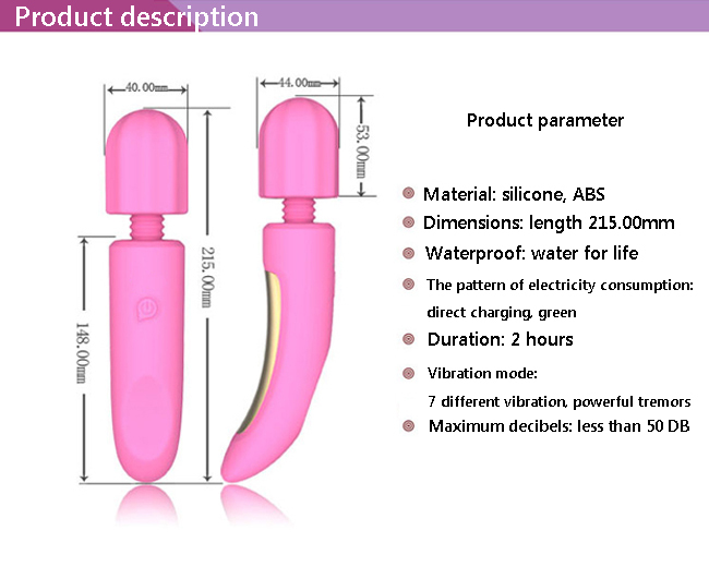 China manufacture price silicone massage AV vibrator on hot sale