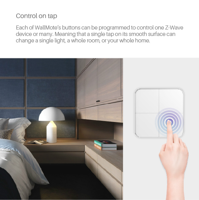 New wireless remote control wall switch touch Z-wave automatized with screen light