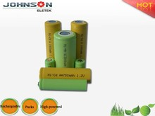 Factory price ni-mh nimh battery pack 3.6v aaa 750mah