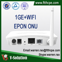 1GE+WiFi GEPON ONU Fiber Optic Router WiFi Modem Networking Equipment for FTTH Solution