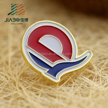 Free samples custom own logo soft enamel metal badge pin