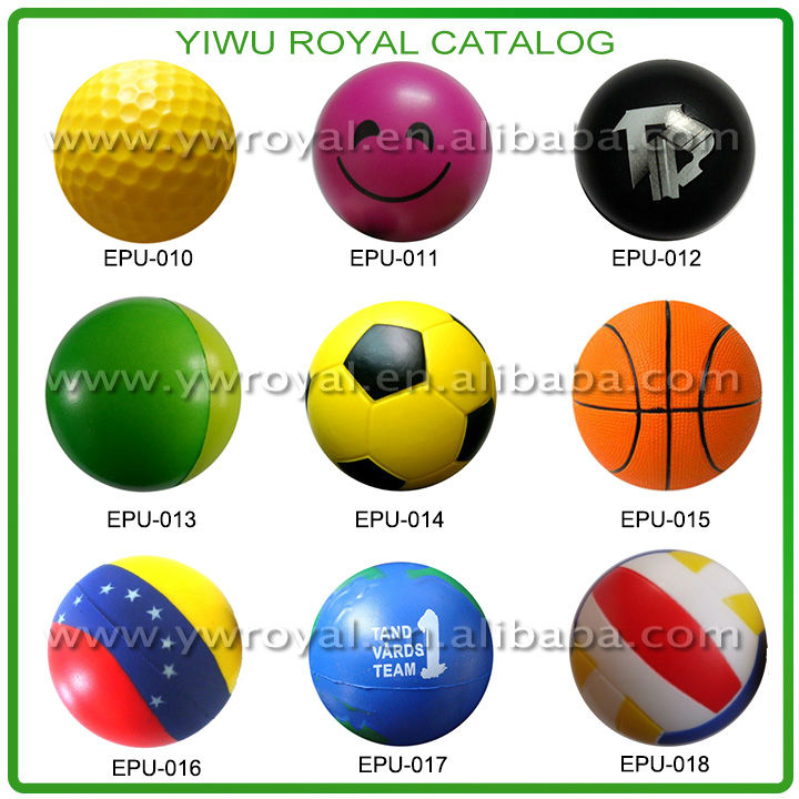 Sports Promotion Mini Football Soccer PU Foam Stress Balls