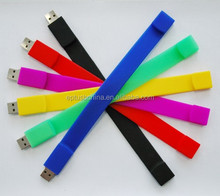 bracelet usb flash drive, silicon wristband usb flash memory, color wristband usb