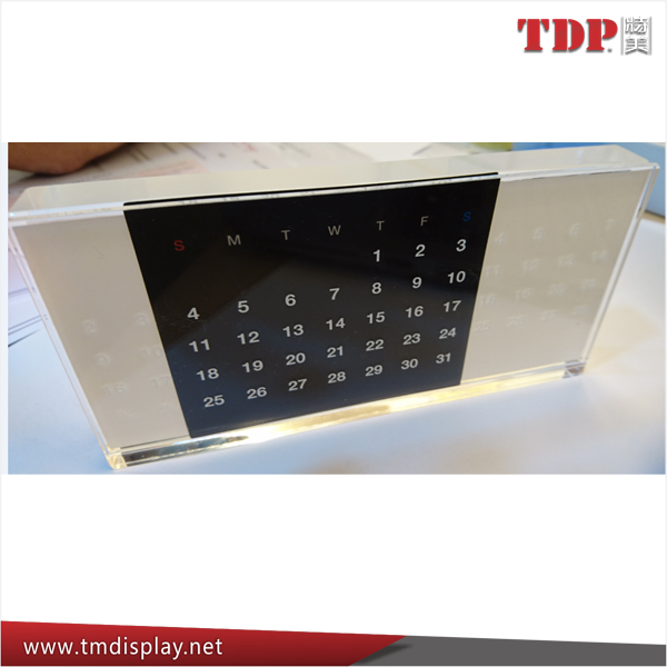 factory creative souvenir Acrylic custom made perpetual calendars desktop perpetual calendar for 2017